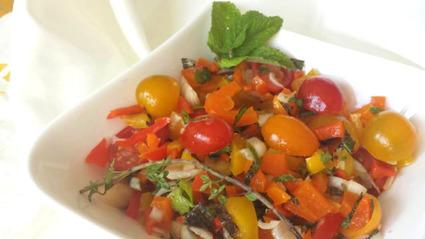 Recette de salade marinée aux herbes