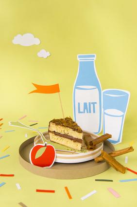 Recette de gâteau au yaourt et son croustillant de crêpes dentelles ...