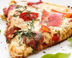 Recette quiche sans pâte tomate mozza