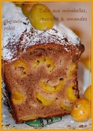 Recette de cake aux mirabelles, chocolat & amandes