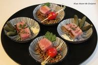 Recette de tapas de steak, tomates cerises et cornichons