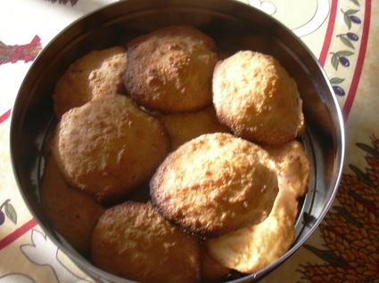 Recette de biscuits à la noix de coco et rhum