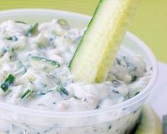 Recette concombre sauce yaourt à la grecque