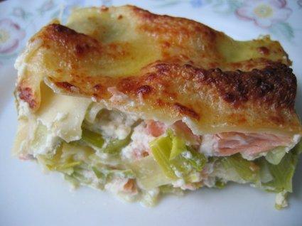 Recette de lasagnes saumon et poireaux