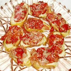 Recette bruschettas aux poivrons rouges grillés – toutes les ...