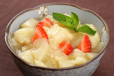 Recette de compote de poires et fraises rapide