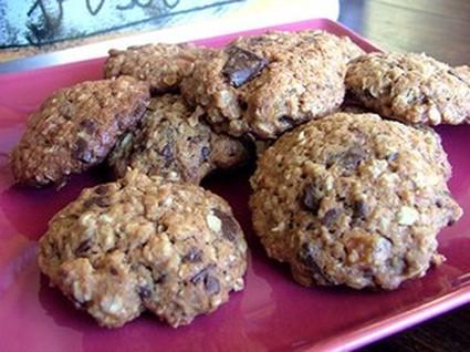 Recette de cookies au chocolat, céréales et fruits rouges
