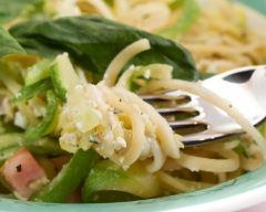 Recette spaghetti aux courgettes