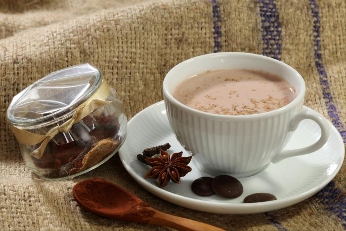 Recette de chocolat chaud aux zestes d'orange rapide