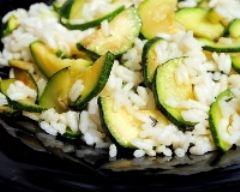 Recette gratin de courgettes au riz basmati