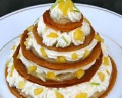 Recette millefeuilles mangue-mascarpone et crème d'amandes