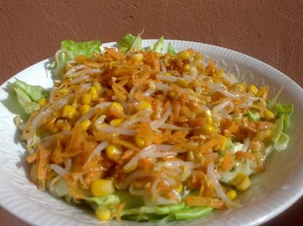Recette de salade carottes-germes de soja
