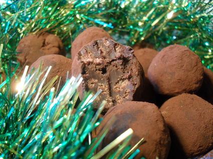 Recette de truffes 70% de cacao au riz soufflé