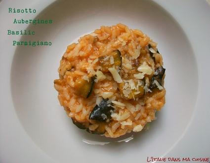 Recette de risotto aux aubergines
