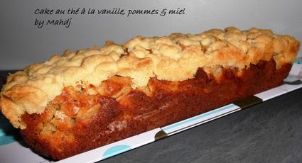Recette de cake au thé à la vanille, pommes et miel