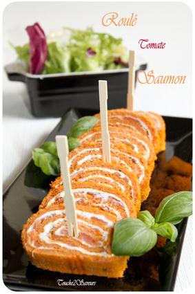 Recette de roulé à la tomate, saumon et fromage frais
