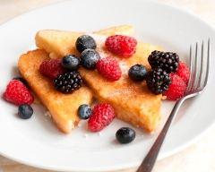 Recette pain perdu aux fruits rouges