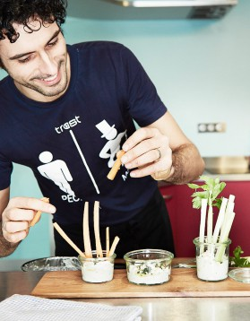 « pinzimonio » : légumes croquants et dip de chèvre frais au thym ...