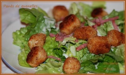 Recette de panés de quenelles sur lit de salade