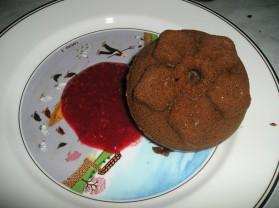 Moelleux au chocolat et son coulis de framboises pour 5 personnes ...