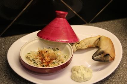 Recette de tourteau cuit maison et sa mayo aux asperges