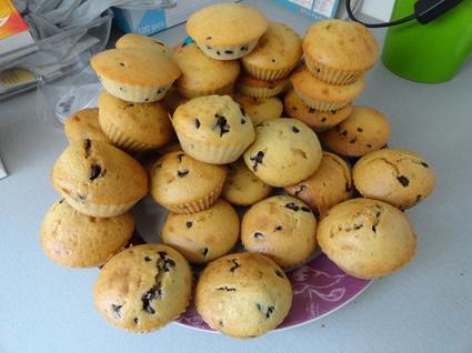Recette de muffins natures aux pépites de chocolat