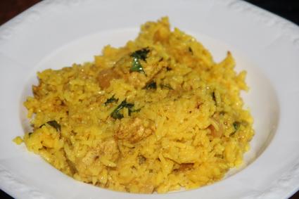 Recette de poulet et riz biryani