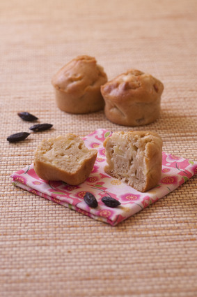 Recette de muffins aux pommes, seigle et fève de tonka