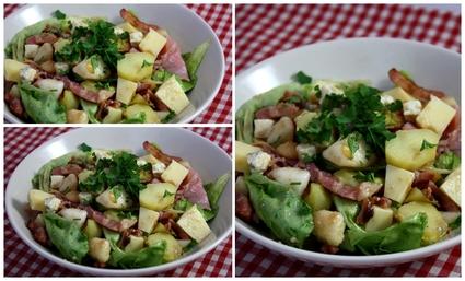 Recette de salade de pommes de terre sucrée-salée