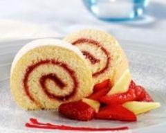 Recette bûche légère au coulis de fruits rouges