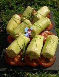 Recette de concombre farci façon cannelloni et tomates fraîches