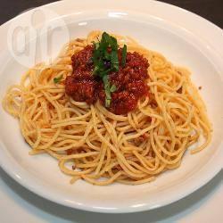Recette spaghettis all'arrabbiata sauce tomate épicée – toutes les ...