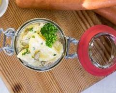 Recette salade de pommes de terre au fromage frais en bocal ...