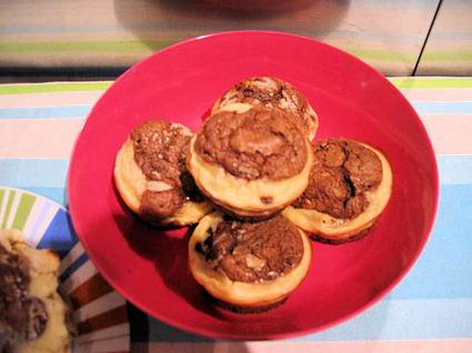 Recette de muffins au marbrés chocolat-cheesecake