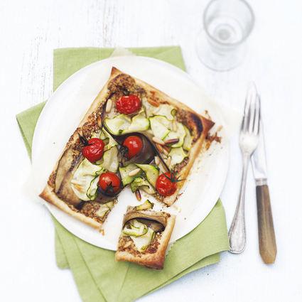 Recette de tarte fine à la moutarde de meaux et aux légumes d'été ...