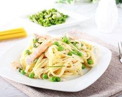Recette one pot pasta au saumon et petits pois