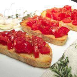 Recette bruschetta au lard italien et aux tomates cerises – toutes ...