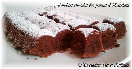 Recette de fondant au chocolat et piment d'espelette