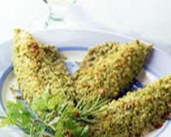 Recette filets de maquereau panés aux herbes et aux amandes