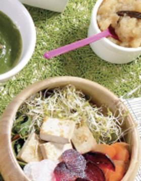 Tofu et salade aux graines germées pour 1 personne