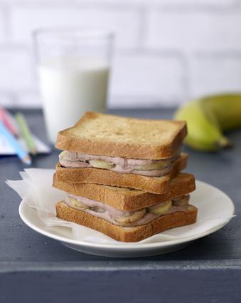 Recette de croque banane au carré frais et banania