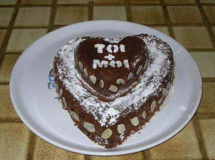 Recette de coeur fondant au chocolat croquant aux amandes