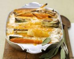 Recette gratin de légumes à la sauge