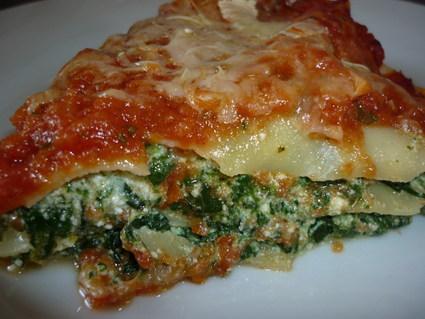 Recette de lasagnes aux épinards et à la ricotta