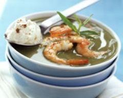 Recette soupe au cresson et aux crevettes
