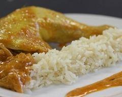 Recette cuisses de poulet au curry