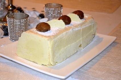 Recette de bûche vanille – marrons