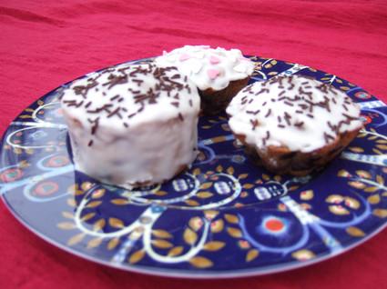 Recette de muffins aux myrtilles et au glaçace à la violette