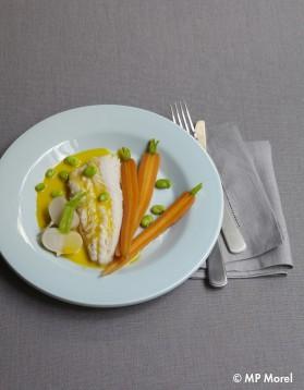 Merlu en aïoli et légumes pour 4 personnes