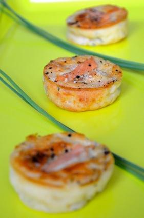 Recette de petites bouchées apéritives au saumon